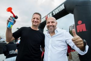Boris Popovic, Mayor of Koper and Milan Erzen, race director at Ironman 70.3 Slovenian Istra 2018, on September 23, 2018 in Koper / Capodistria, Slovenia. Photo by Vid Ponikvar / Sportida